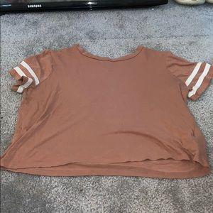 pink cropped t shirt